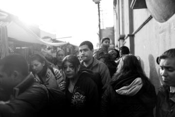The streets of Tijuana, Mexico on December 11, 2011.