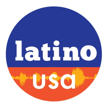 Latino USA logo circle soundwave